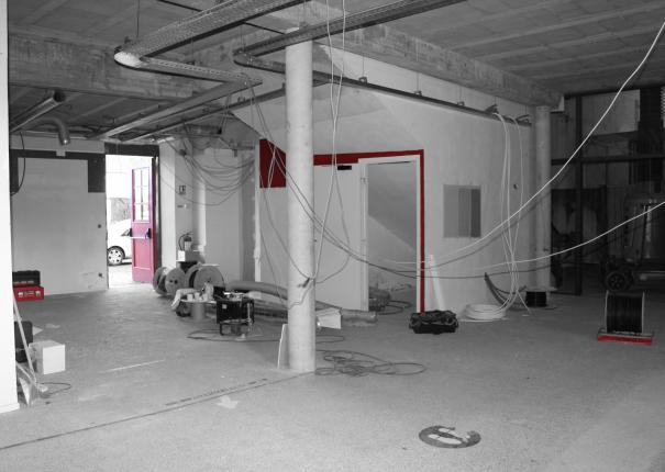espace accueil haras hennebont en travaux